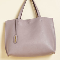 Know a Thing or Two-Tone Bag in Lilac | Mod Retro Vintage Bags | ModCloth.com