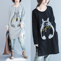Cute Cartoon Animal Princess Totoro dress Anime Japan cosplay for Women My Neighbor Totoro Cosplay Costume Hoodie party t shirt