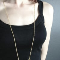 The Ella Triple Curved Chevron Necklace in Gold or SIlver