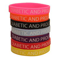 Diabetic and Proud Silicone Wristband (7 Colours)