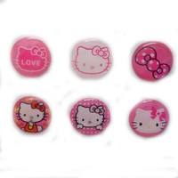 6pcs Lovely Pink Kitty Cats Home Button Stickers for iPad ipod iphone