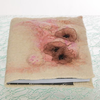 "Felted covers "" Rouge"" with notebook, refillable"