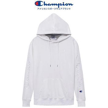 Champion new simple and fashionable men's and women's hoodie casual sports long-sleeved top