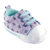 Luvable Friends Girls Print Canvas Sneaker | Affordable Infant Clothing