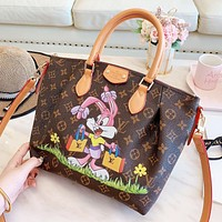 LV Louis Vuitton Fashion Girl Women Shopping Bag Leather Tote Handbag Satchel Bag