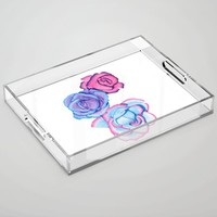 Roses Acrylic Tray by drawingsbylam