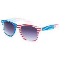 Blue Crown Americana Sunglasses Red/White/Blue One Size For Men 25386894801