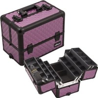 Sunrise Outdoor Travel Cosmetic Holder Purple/ Black Diamond Professional Beauty Makeup Case -E3304