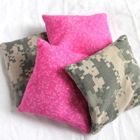 Bean Bags Fuchsia & Camo ACU (set of 4) - US Shipping Included