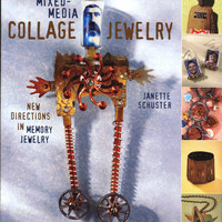 Mixed Media Collage Jewelry / Art Book / Jewelry Book / Collage Jewelry