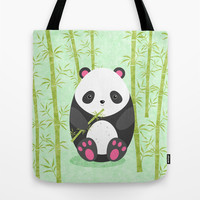Panda Tote Bag by EDrawings38