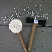 Bride and Groom Guest Book Pen Set. Rustic Wedding pen set. Guest Book.