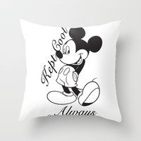 Kept Cool Always Mickey Mouse Throw Pillow by Timeless-Id