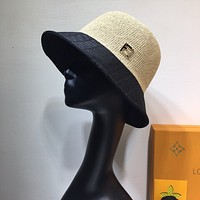 Fendi Fashion New Embroidery Letter Women Men Sunscreen Travel Cap Hat