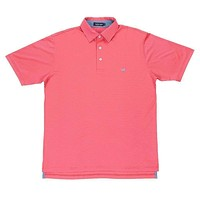 Bermuda Tucker Golf Polo in Slate and Pink by Southern Marsh
