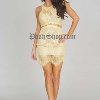 Lovers Lace Tank Dress – Yellow