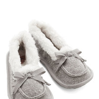 ModCloth Where the Slumber Party At Slippers in Grey