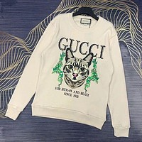 GUCCI GG women's versatile round neck long-sleeved sweater