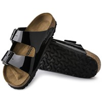 Sale Birkenstock Arizona Birko Flor Patent Black Patent 1005291/1005292 Sandals