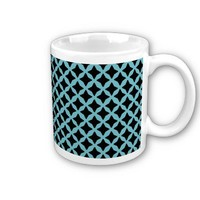 Blue Curacao And Black Seamless Mesh Pattern Mug from Zazzle.com