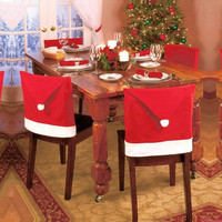 Gifts Your Family Christmas Party Accessory Cartoon Couple Santa Claus Christmas Hats Chair Back Cover Home Decor Accessories = 1930014468