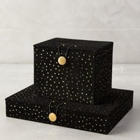 Star Cluster Jewelry Box by Anthropologie in Black Motif Size: