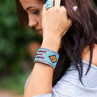 Fancy Mexican Beaded Cuff Bracelets