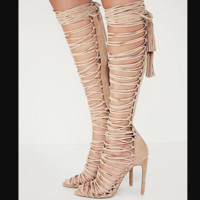 Summer sex appeal thin heel ultra tall heel hollow sandal female