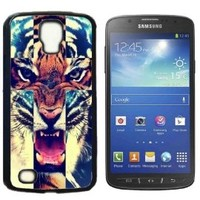 Tiger Roar Cross Hard Plastic and Aluminum Back Case for Samsung Galaxy S4 Active I9295