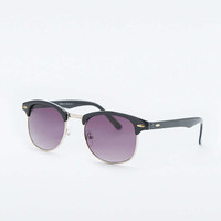 Urban Outfitters Classic Black Half-Frame Sunglasses - Urban Outfitters