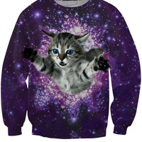 Kitty Glitter Crewneck Sweatshirt