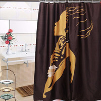 African Woman Waterproof Bathroom Shower Curtain