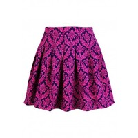 Leaves of Vintage Puff Skirt (Hot Pink)
