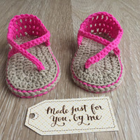 Crochet Baby Girl Sandals - Carefree Sandals - Baby Shower Gift