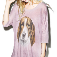 Wildfox Couture The Hound Sunny Morning Tee Blackberry