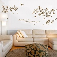 TRURENDI Bird Tree Wall Art Sticker Removable Vinyl Decal Mural Quote Home Decor DIY