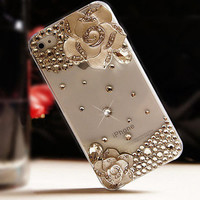 [grdx02028]Camellia Phone Cover Transparent Phone Skin For IPhone 4/4s/5