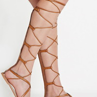 Faux Leather Gladiator Sandals   Forever 21 - 2000153093