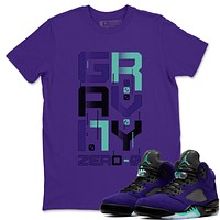 Zero Gravity T-Shirt - Air Jordan 5 Purple Grape