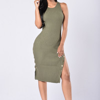 Perfect Date Dress - Olive