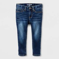 Toddler Girls' Skinny Jeans - Cat & Jack™ Dark Blue