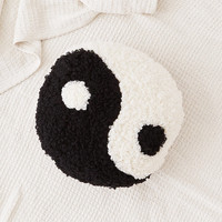 Shaggy Yin-Yang Throw Pillow | Urban Outfitters