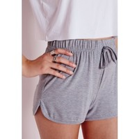 Jersey Runner Shorts Grey Marl - Jersey - Runner - Shorts - Missguided