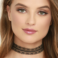 All Better Black Lace Choker Necklace