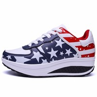 2017 Sport Running Shoes Woman Outdoor Breathable Height Increasing Couple Shoes Lightweight Athletic Sneaker Women Platform