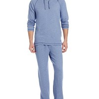 Tommy Bahama Men's Long Sleeve French Terry Hoodie Pajama Set