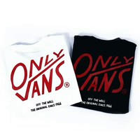 VANS only Summer fashion new bust side pocket letter and back letter print short sleeve t-shirt top two color