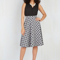 Bugle Joy Skirt in Gray Dots | Mod Retro Vintage Skirts | ModCloth.com