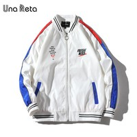 Trendy Una Reta Hip Hop Jacket Men New Autumn Zipper Windbreaker Jackets Male Plus Size Print Letter Streetwear Baseball Jacket AT_94_13