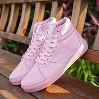 Vans Sk8-Hi Pink 50th Anniversary Commemorative Section Sneakers Casual Shoes-1